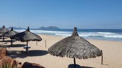 Beach palapas Quintas del Mar.