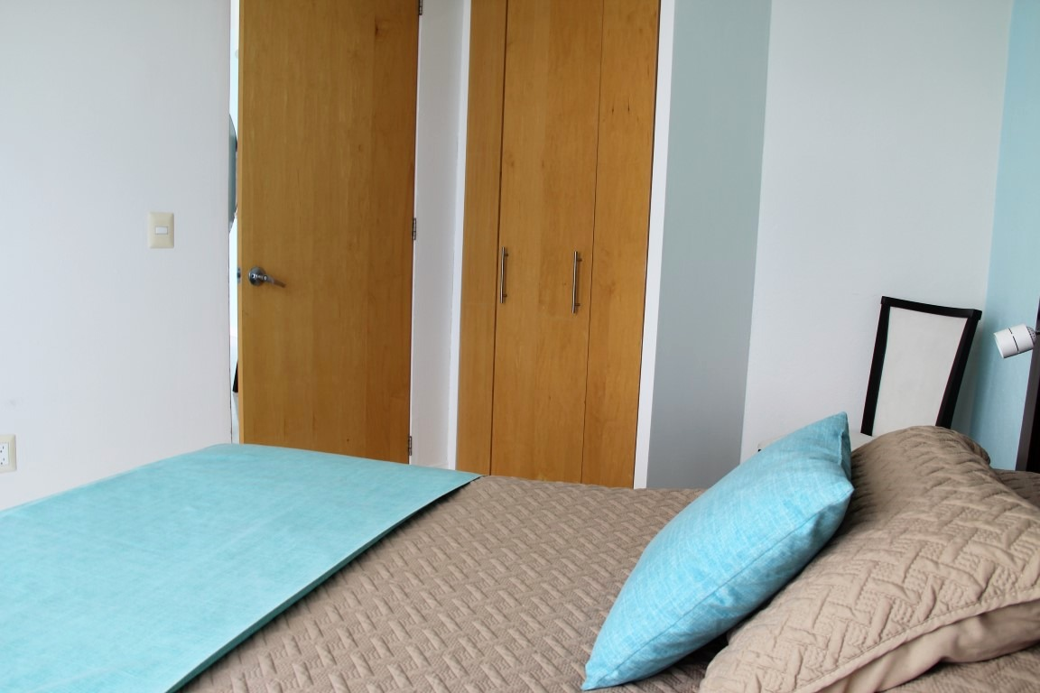 Closet space in second bedroom.