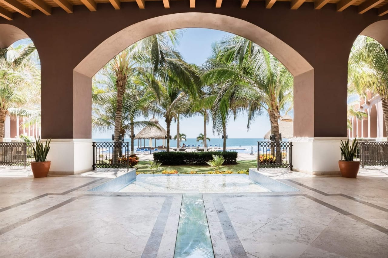 Lobby and pool/ocean views.
