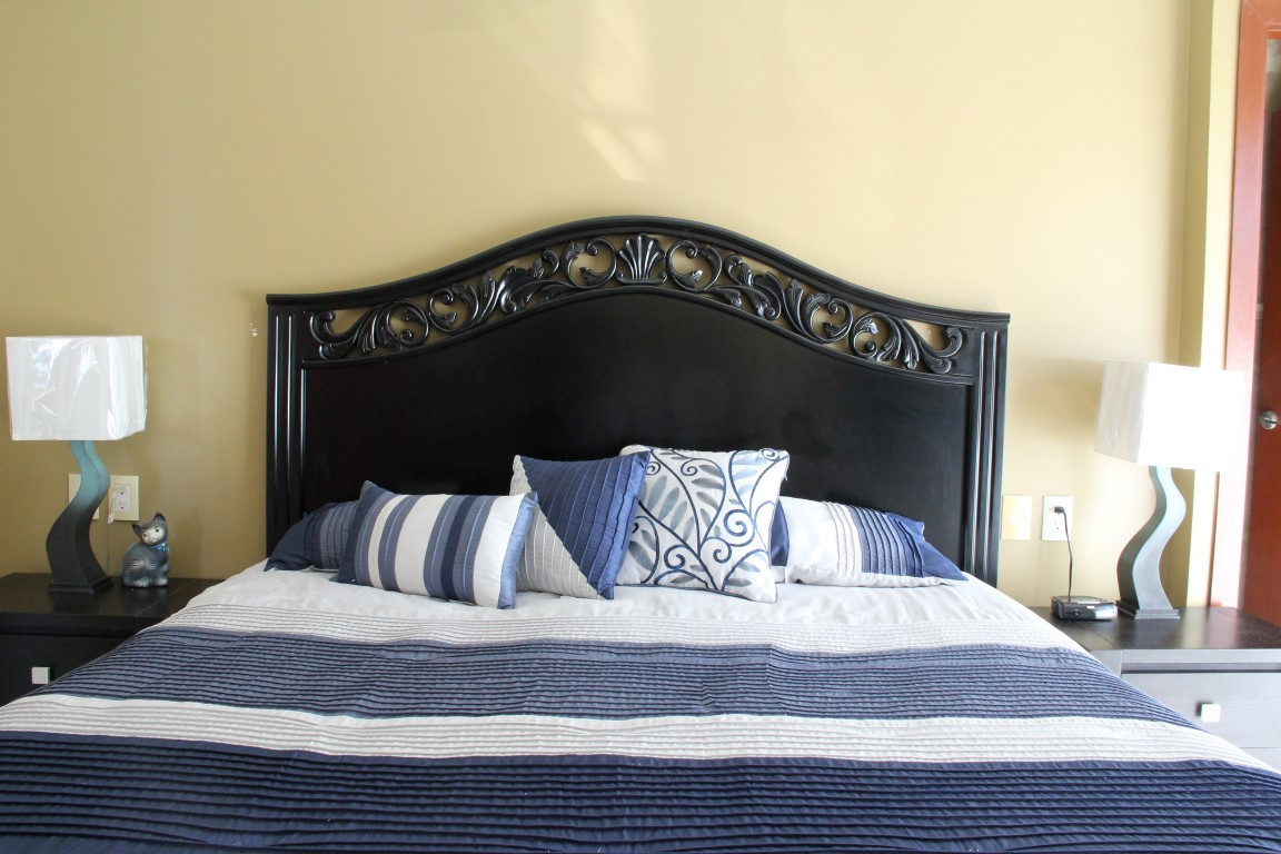 King bed in master bedroom