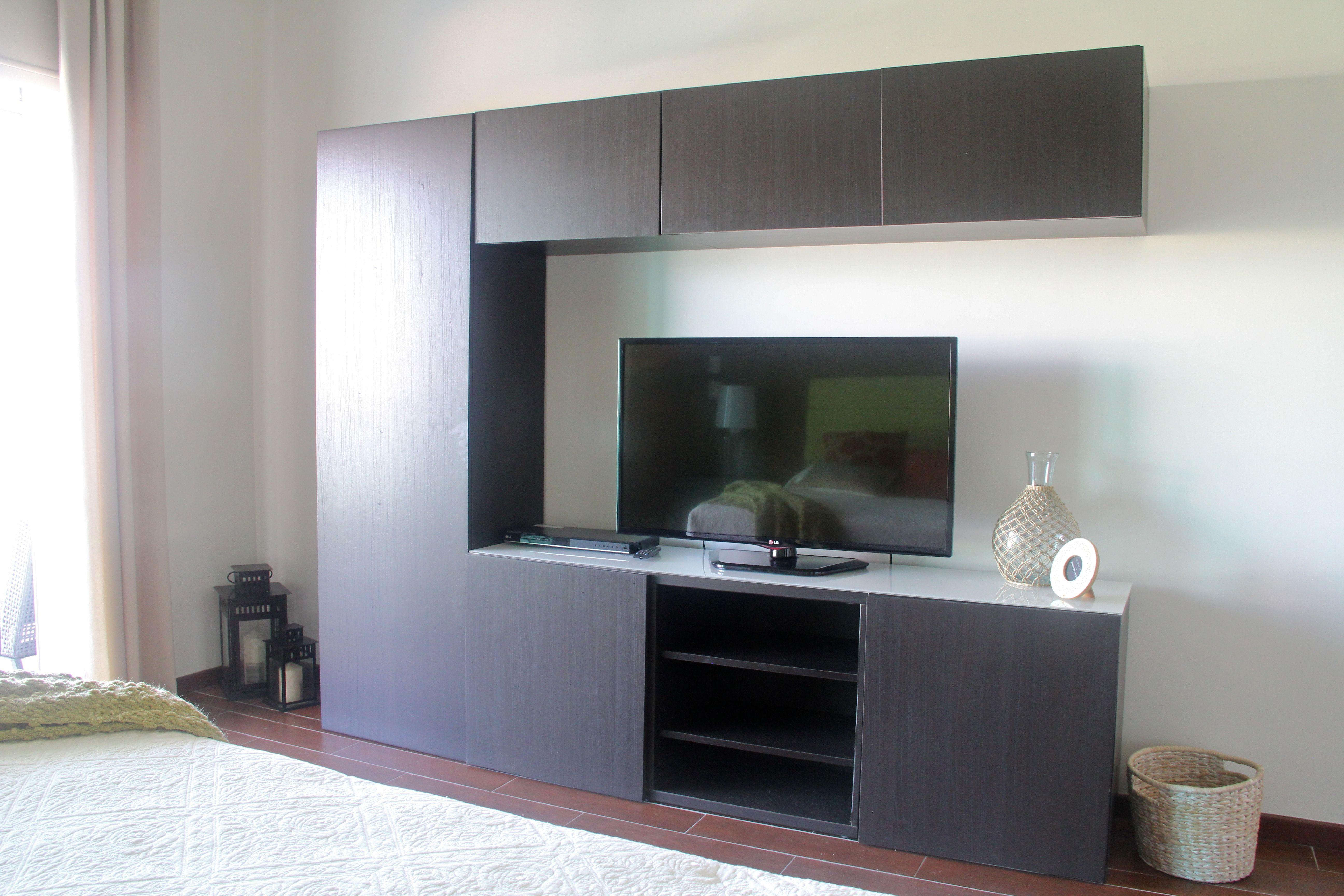 TV centre in master bedroom.