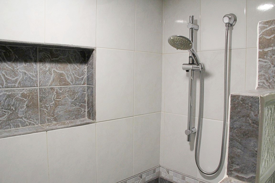 Shower in second bathroom.