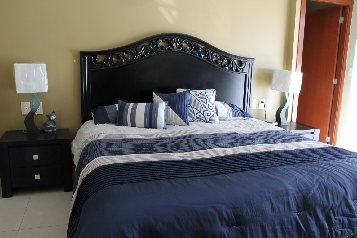 King bed in master bedroom.