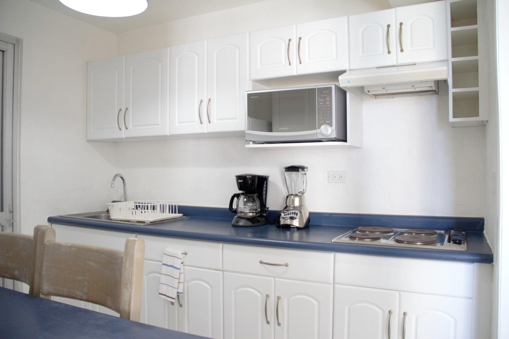Galley-style kitchen.