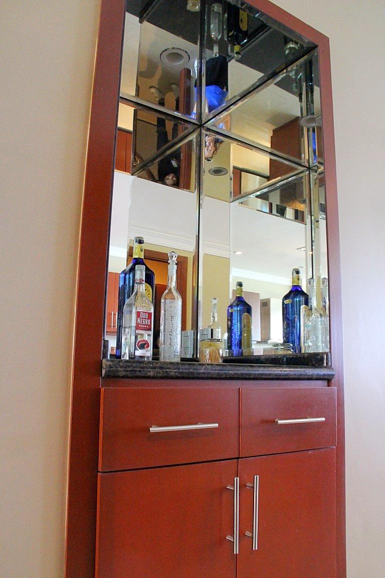 Liquor cabinet.