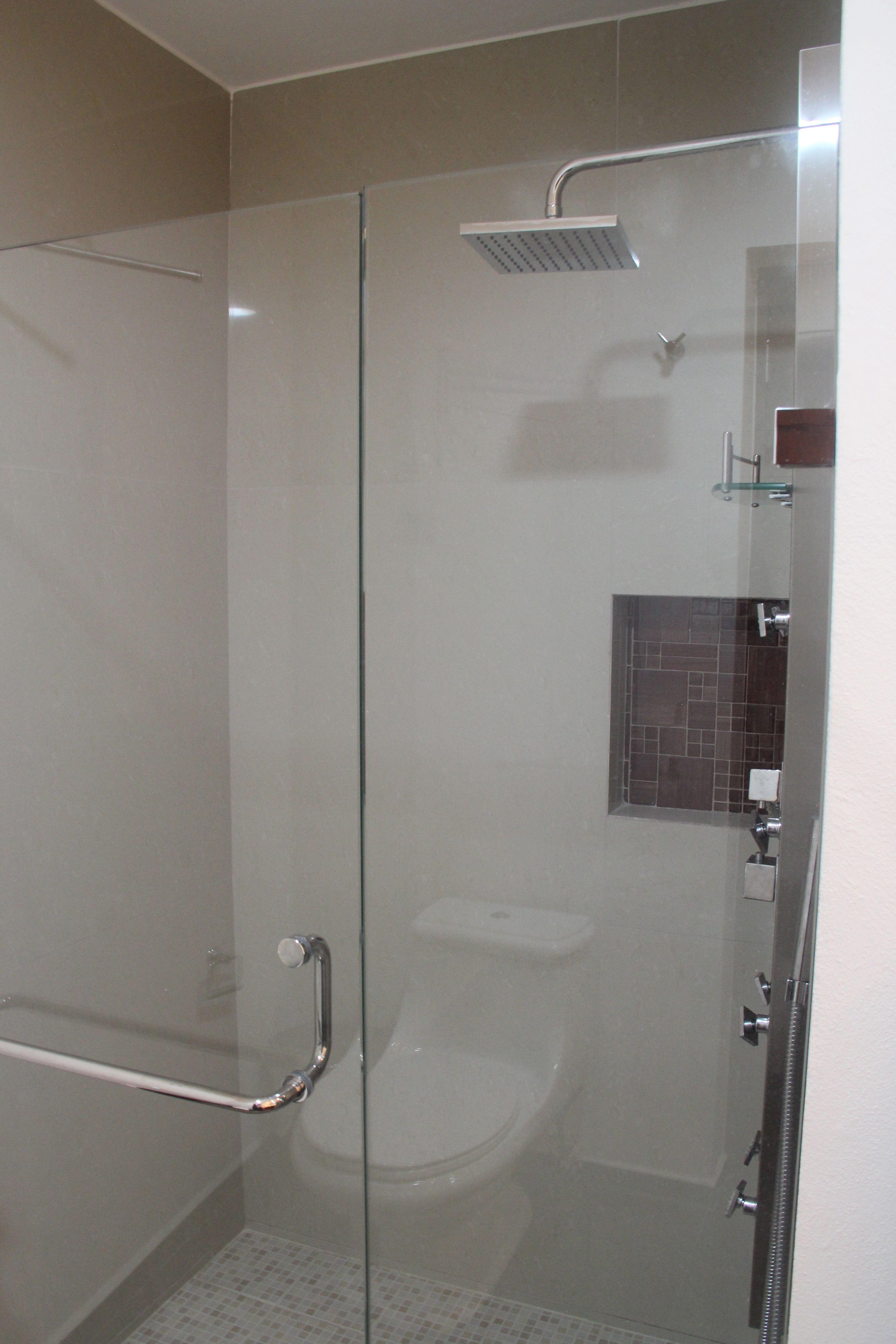 Deluxe shower in master bath.