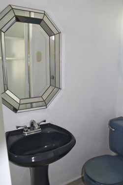 Service bathroom with shower