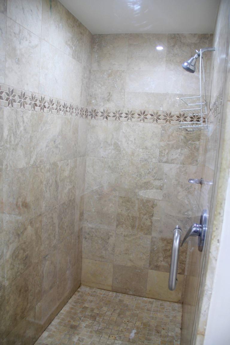 Large shower.