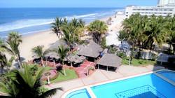 Beach and pool views.