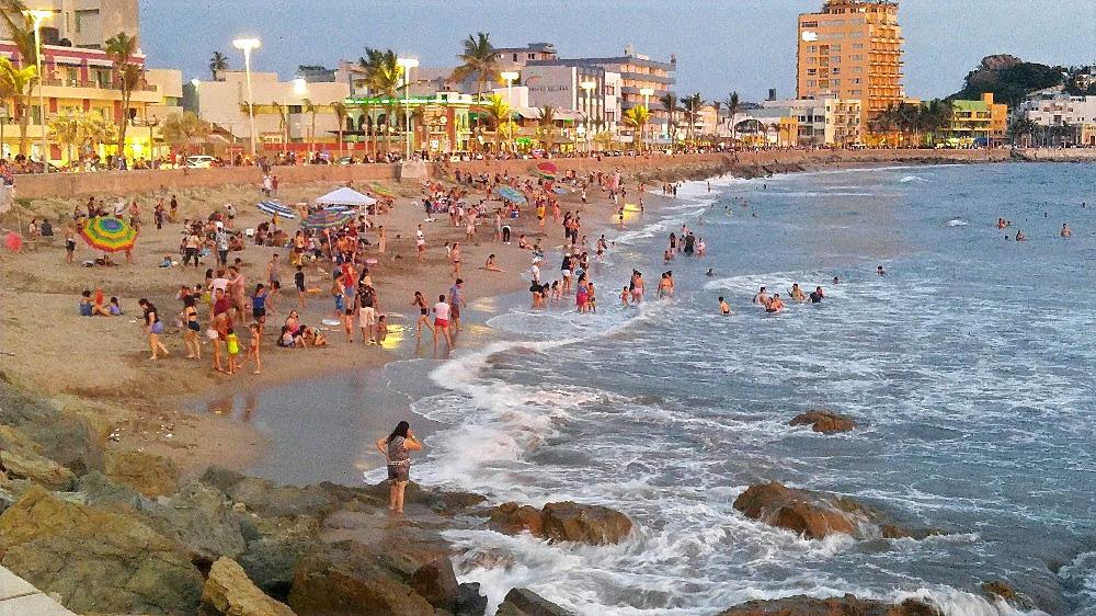 Olas Altas beach and boardwalk.
