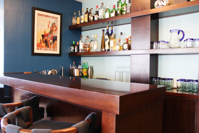 Bar area (liquor not included).