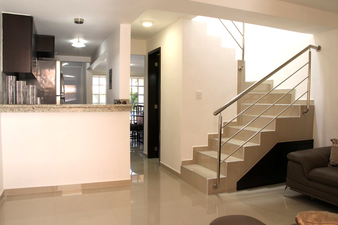 Stairs to bedrooms on 2nd level.