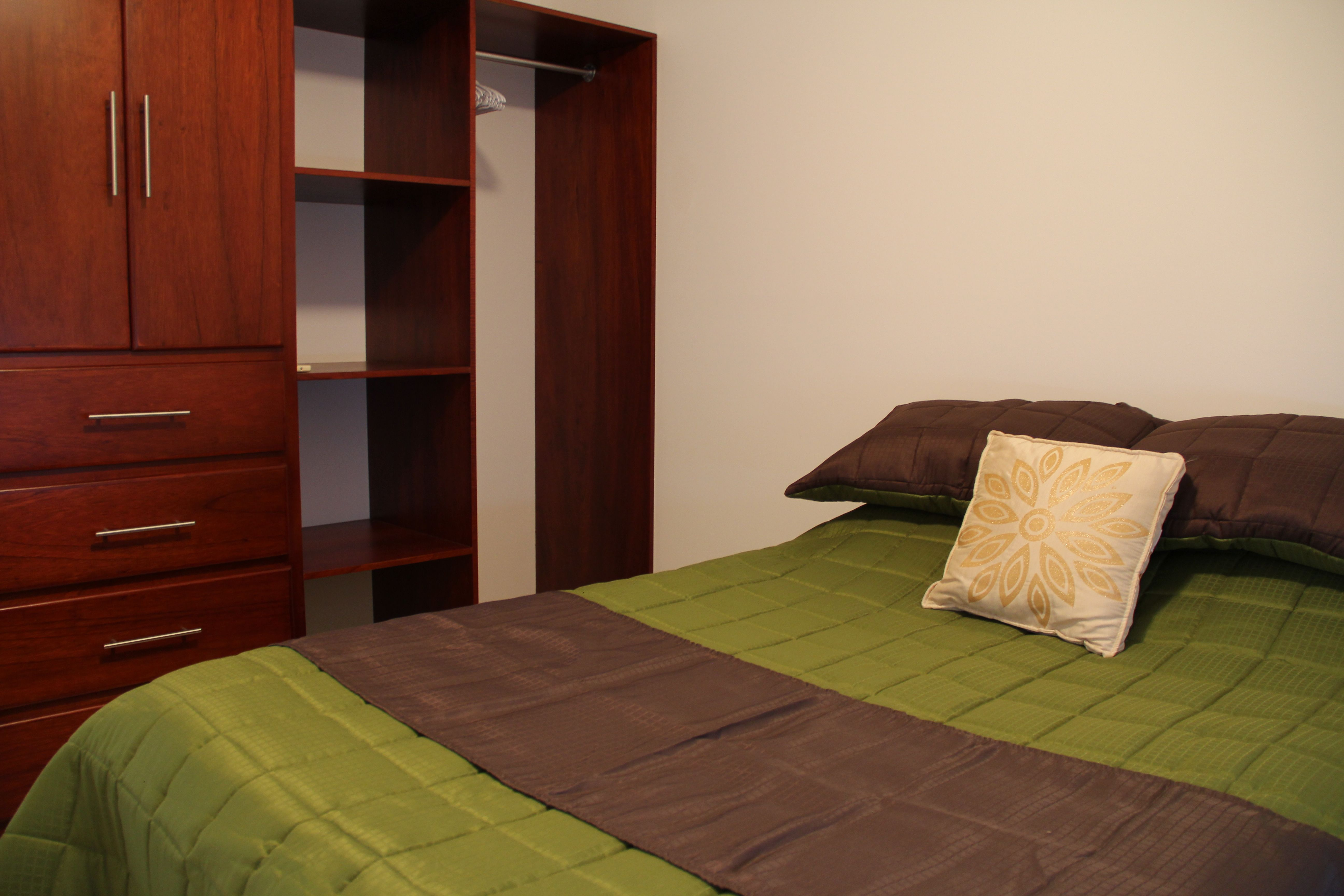 Second bedroom with double bed.