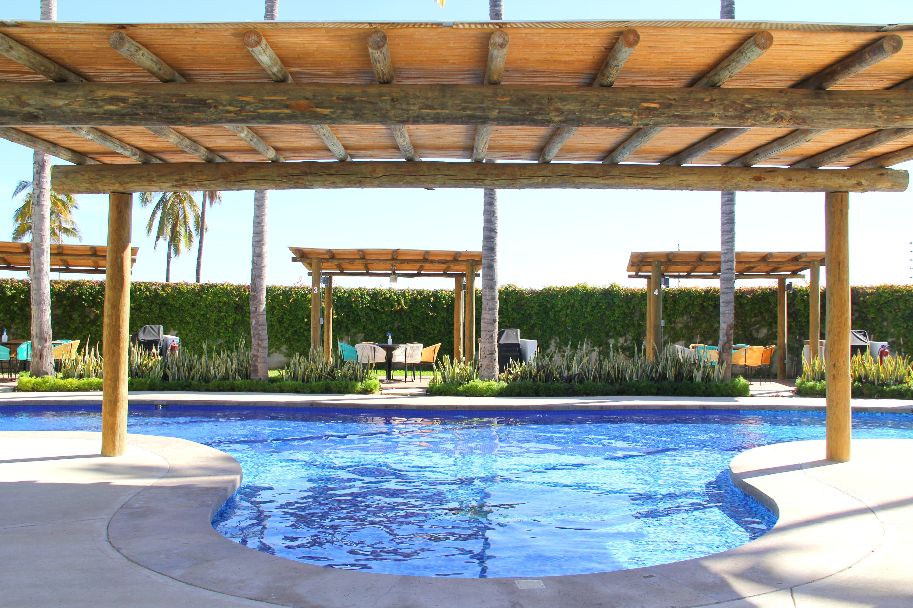 Pool with shaded area.