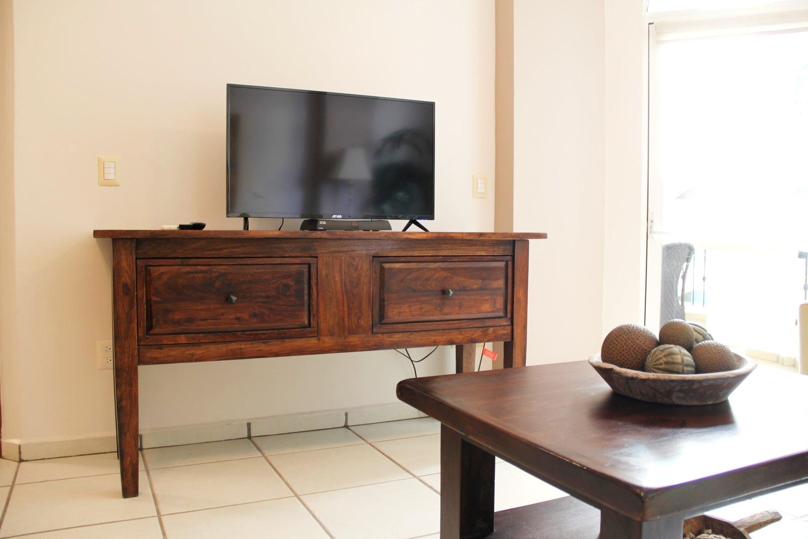 TV in living room.