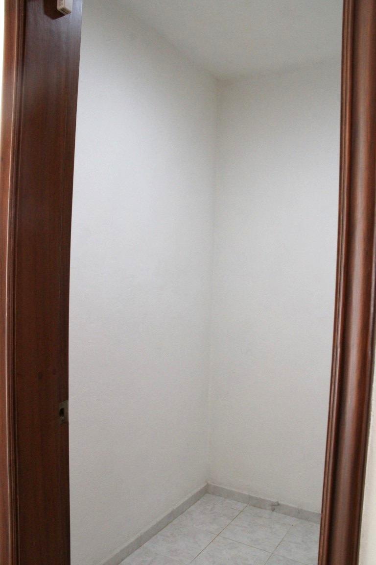 Storage closet on second level.