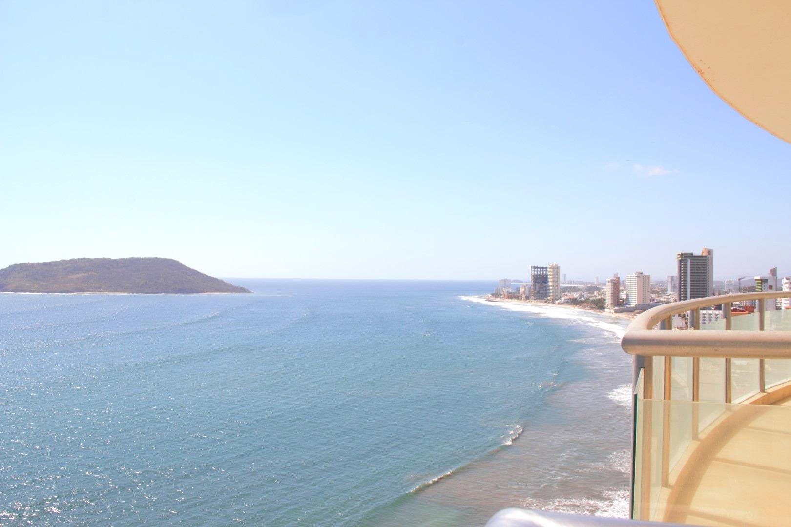 Stunning ocean and island views.