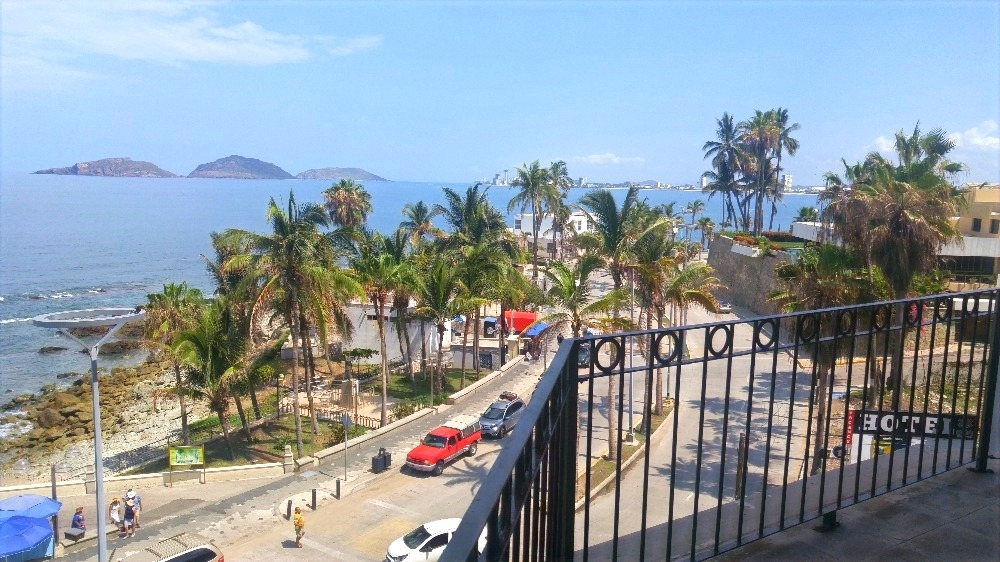 View of the Malecon from patio.