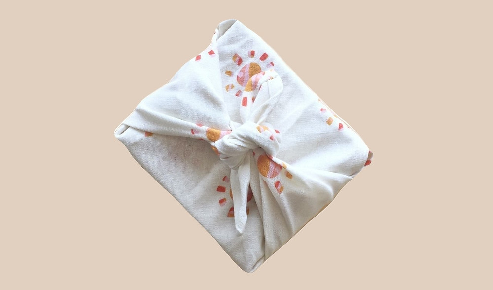 Organic linen cotton napkin in KAIKO's Sunshine fabric