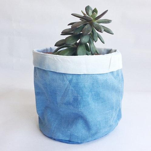 Dip-Dyed Indigo Fabric Bag