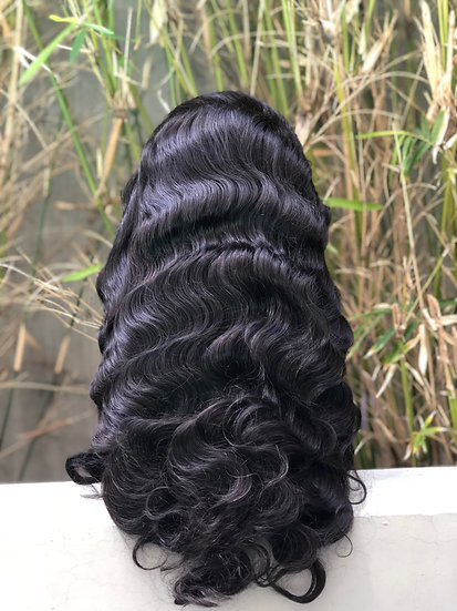 """Virgin Arabian Body Wave"" Glueless Full Lace Wig"