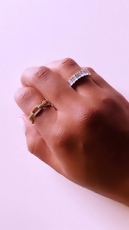 Gold Link Adjustable Ring