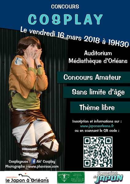 Affiche concours cosplay 2018