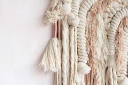 Rose and beige - Living Fibers