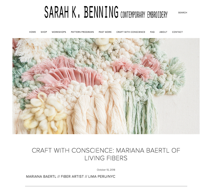 Craft with conscience: Mariana Baertl