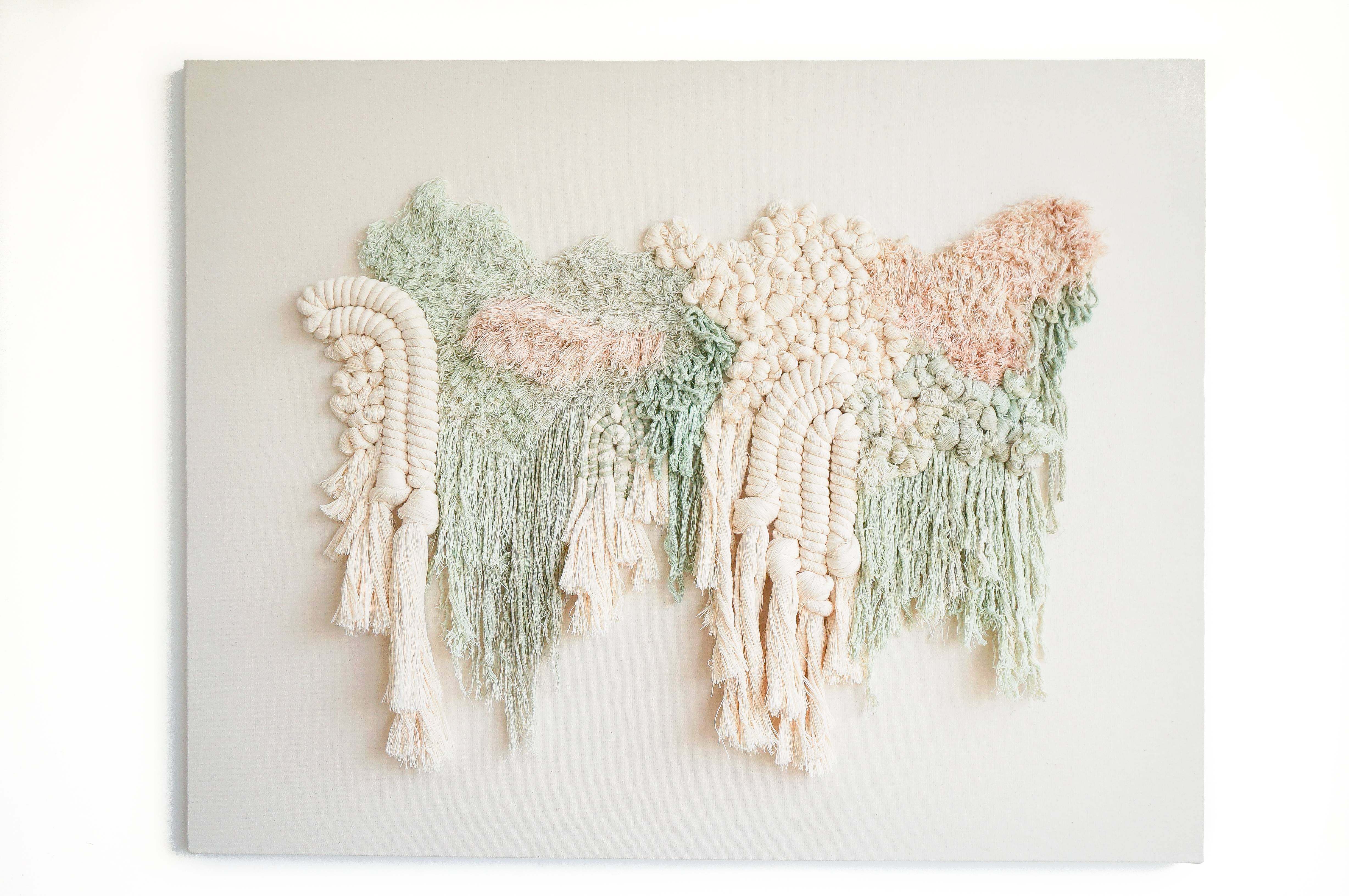 Fiber art piece by Mariana Baertl