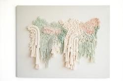Fiber art piece by Mariana Baertl