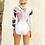 Thumbnail: 'Zuri' -Seaside daisy sided cutout surf-suit