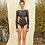 Thumbnail: 'Zuri' Night Wave sided cut out surf suit in Nightwave (CREX209)