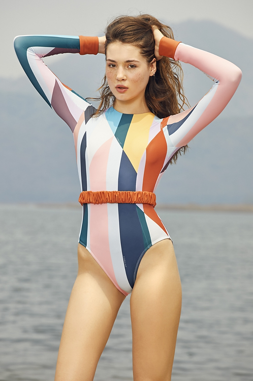 'April' - Sunrise Spectrum Surf suit (CREX211)