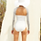 Thumbnail: 'Liche' Corset like one piece swim with ribbed arm sleeves in 'Sunrise'(CREX212)