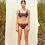 Thumbnail: 'Mena' Crop top two piece bikini in Nightwave/Tangerine (CREX194)