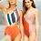 Thumbnail: 'Mel' One shoulder cutout one piece swimwear