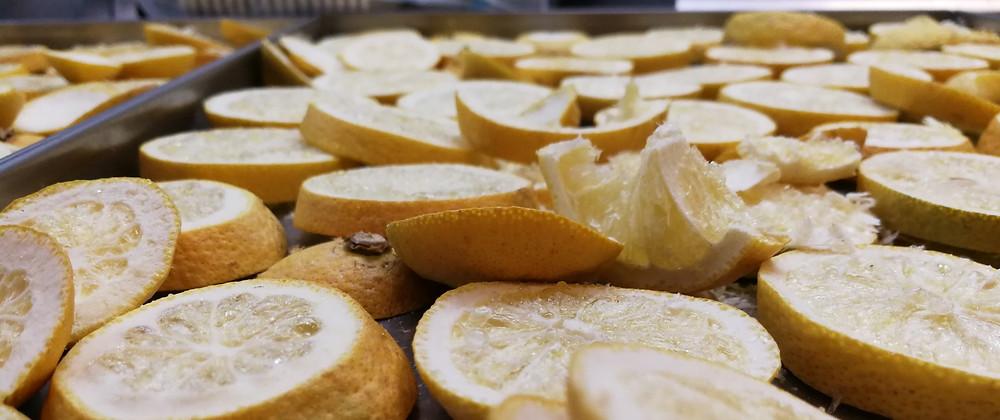 Lyofilizované citróny sušené mrazem