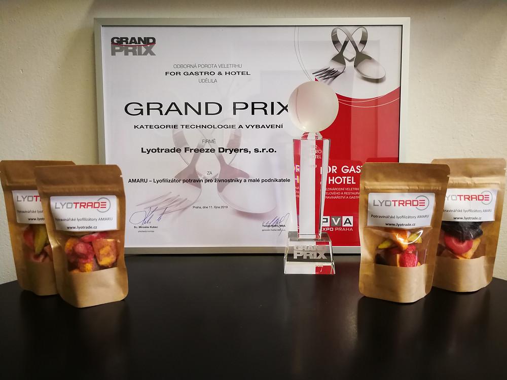 1. místo For Gastro & Hotel Grand Prix v sekci Technologie