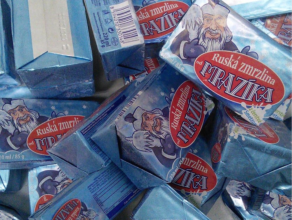 Ruská zmrzlina od Mrazíka před sušením v lyofilizátoru