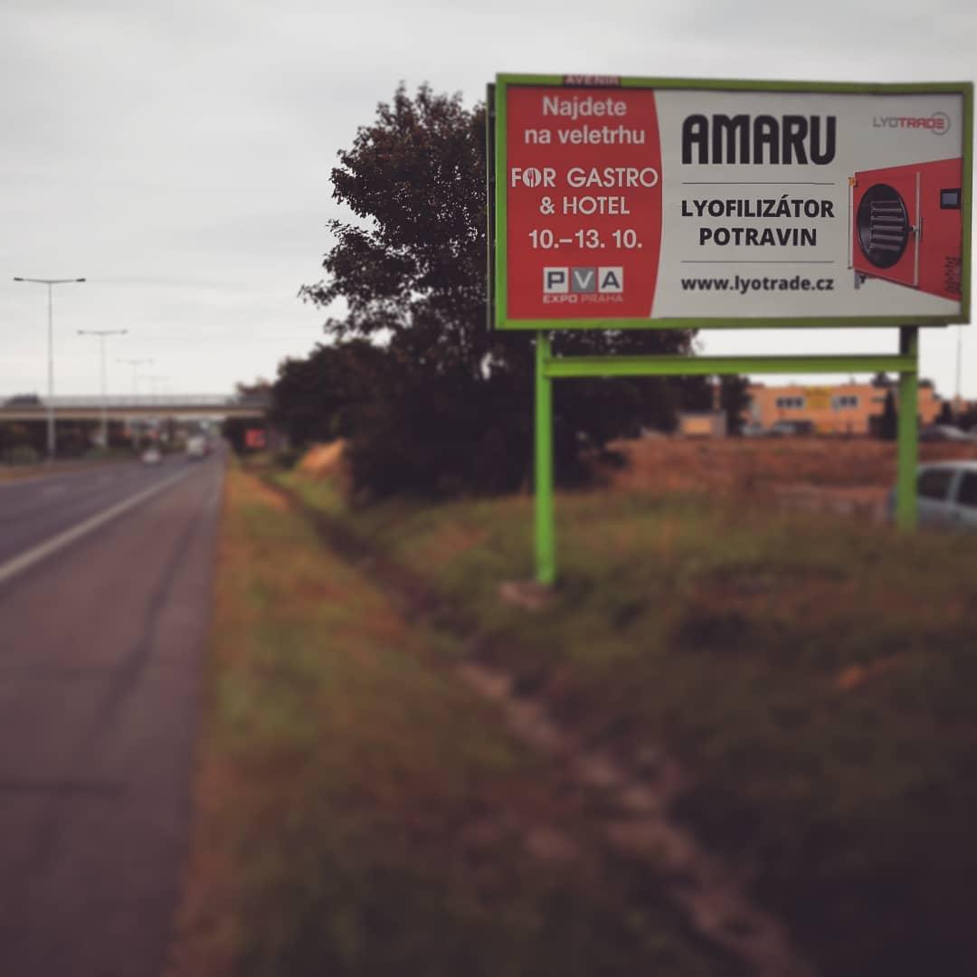 Billboard s lyofilizátorem AMARU