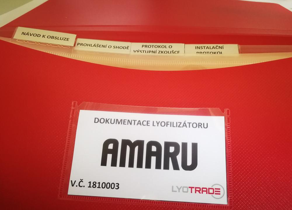 Složka dokumentace k lyofilizátoru AMARU
