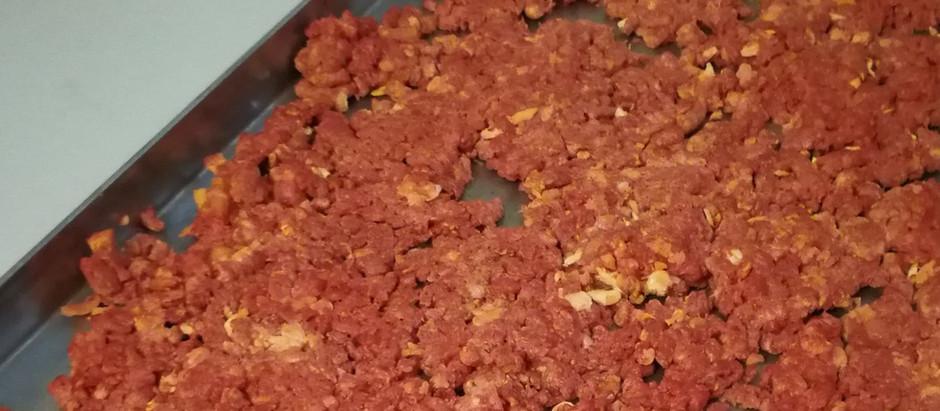 Lyofilizované hovězí mleté maso