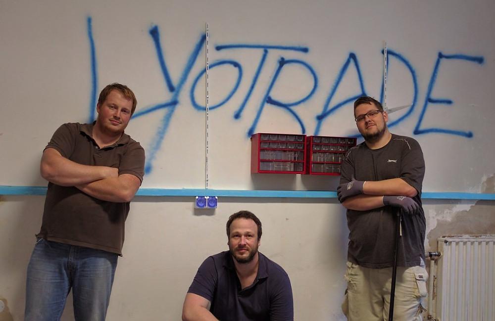 Zakládající tým Lyotrade - (zleva) Honza, Pavel, Karel