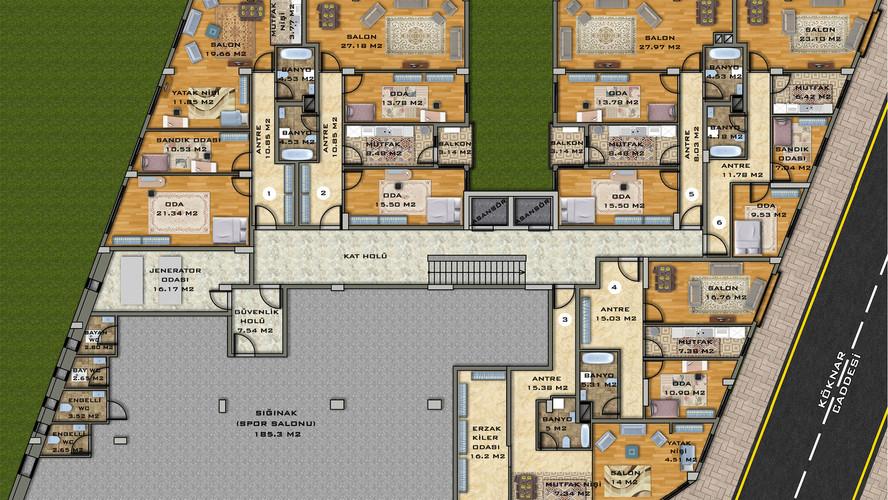 2nd Basement Floor Plan