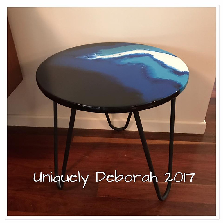 Resin Hairpin Leg Table - 2 places available