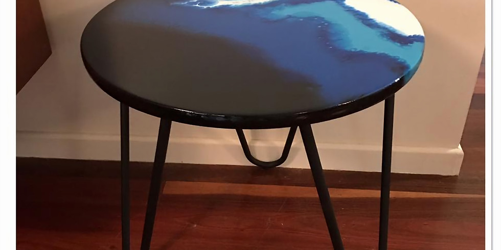Resin Hairpin Leg Table - 1 place available