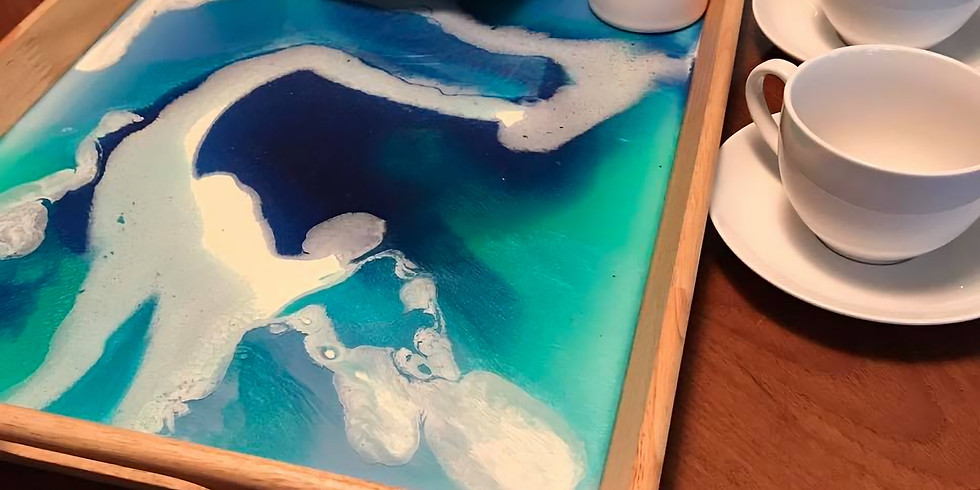 Large Resin Serving Tray - SOLD OUT