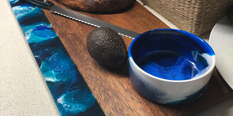 Artisan Resin Grazing Plank and Bowl - SOLD OUT