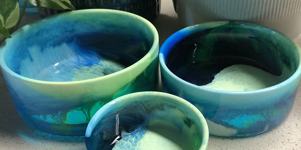 Artisan Resin Stacking Bowls and Spoons - SOLD OUT